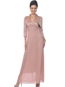 Dusty Rose MOB Evening Gown with Bolero