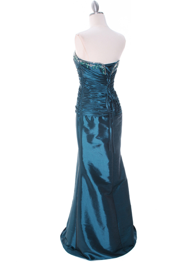 29591 Jade Taffeta Evening Gown with Bolero - Jade, Back View Medium