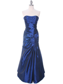 Blue Taffeta Evening Gown