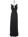 MB6090 Cleopatra Evening Dress - Black, Front View Thumbnail