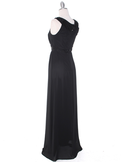 MB6090 Cleopatra Evening Dress - Black, Back View Medium