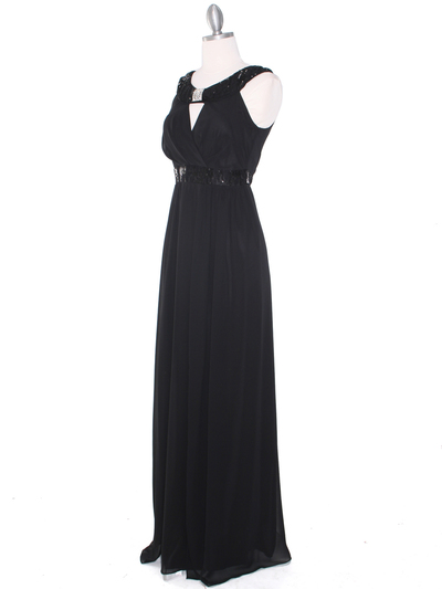 MB6090 Cleopatra Evening Dress - Black, Alt View Medium