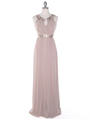 MB6090 Cleopatra Evening Dress - Taupe, Front View Thumbnail