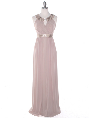 MB6090 Cleopatra Evening Dress, Taupe