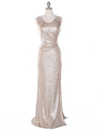 MB6100 Tank Evening Dress - Gold, Front View Thumbnail
