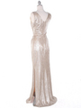 MB6100 Tank Evening Dress - Gold, Back View Thumbnail