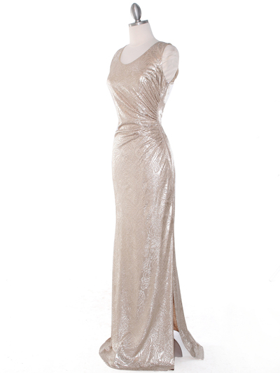 MB6100 Tank Evening Dress - Gold, Alt View Medium