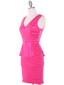MB6151 Peplum Cocktail Dress - Pink, Alt View Thumbnail