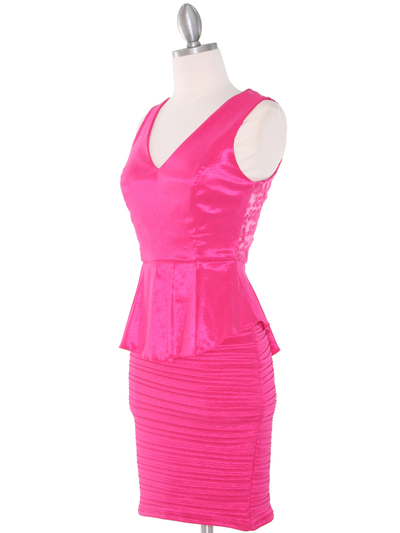 MB6151 Peplum Cocktail Dress - Pink, Alt View Medium