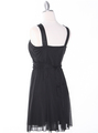 NB1077 High Neck Sleeveless Cocktail Dress - Black, Back View Thumbnail