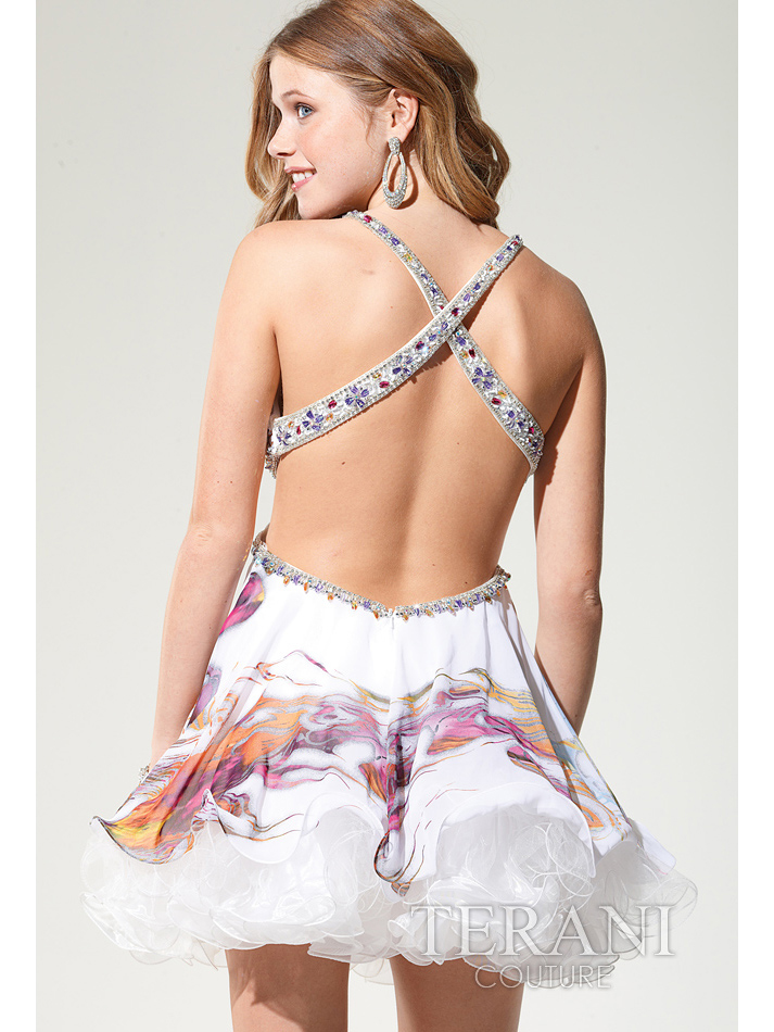 Open Back Short Prom Dress By Terani  Sung Boutique L.A.