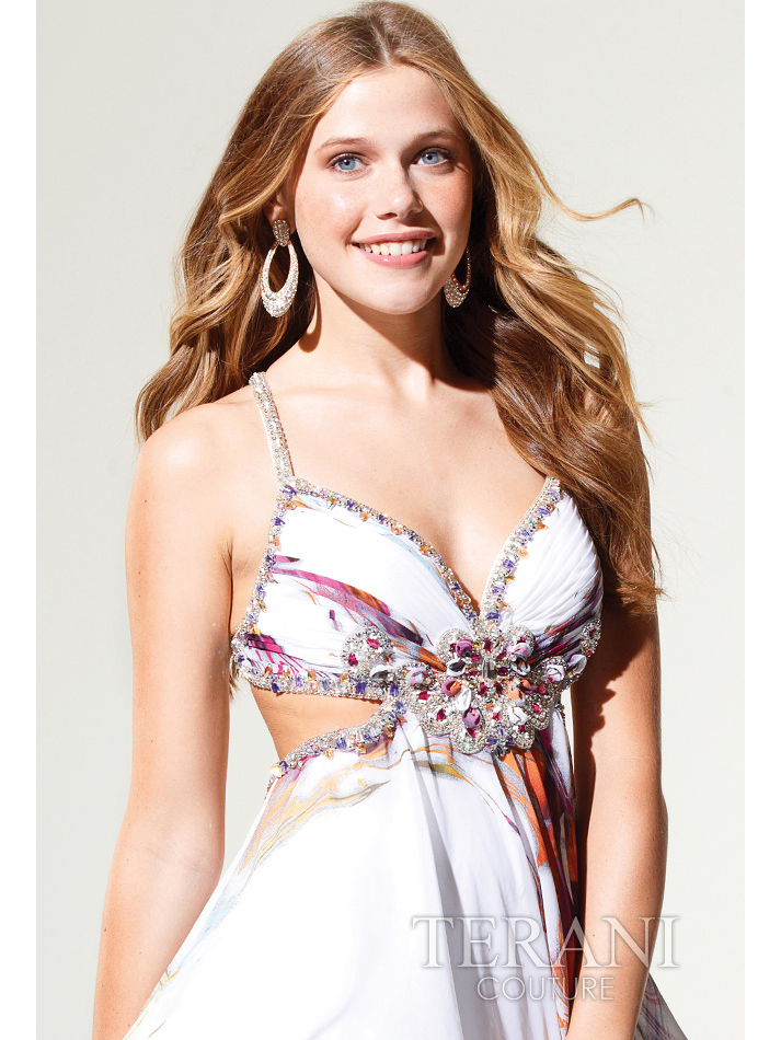 Multi Colored Prom Dresses Open Back Short ...