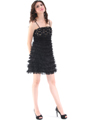 40299 Black Cocktail Dress By Black - Black, Alt View Thumbnail