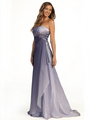 S30036 Dual Color Prom Dress - Purple, Front View Thumbnail