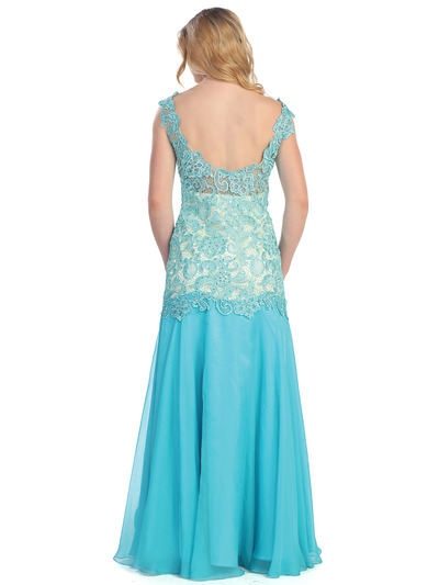 S30291 Lace & Sexy Evening Dress - Tiffany, Back View Medium