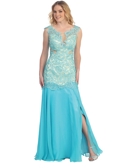 S30291 Lace & Sexy Evening Dress - Tiffany, Front View Medium