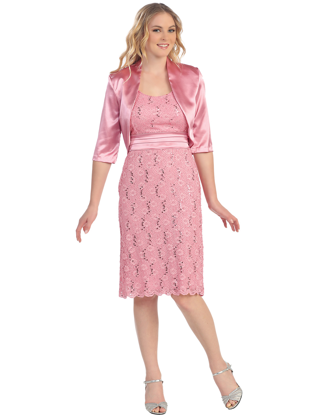 Lace Amp Sweetheart Cocktail Dress With Satin Bolero Sung