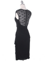S8764 Cap Sleeve Little Black Dress - Black, Back View Thumbnail
