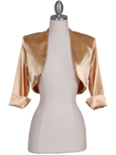 Gold Satin Bolero Jacket