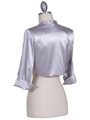 Silver Satin Bolero Jacket - Back Image