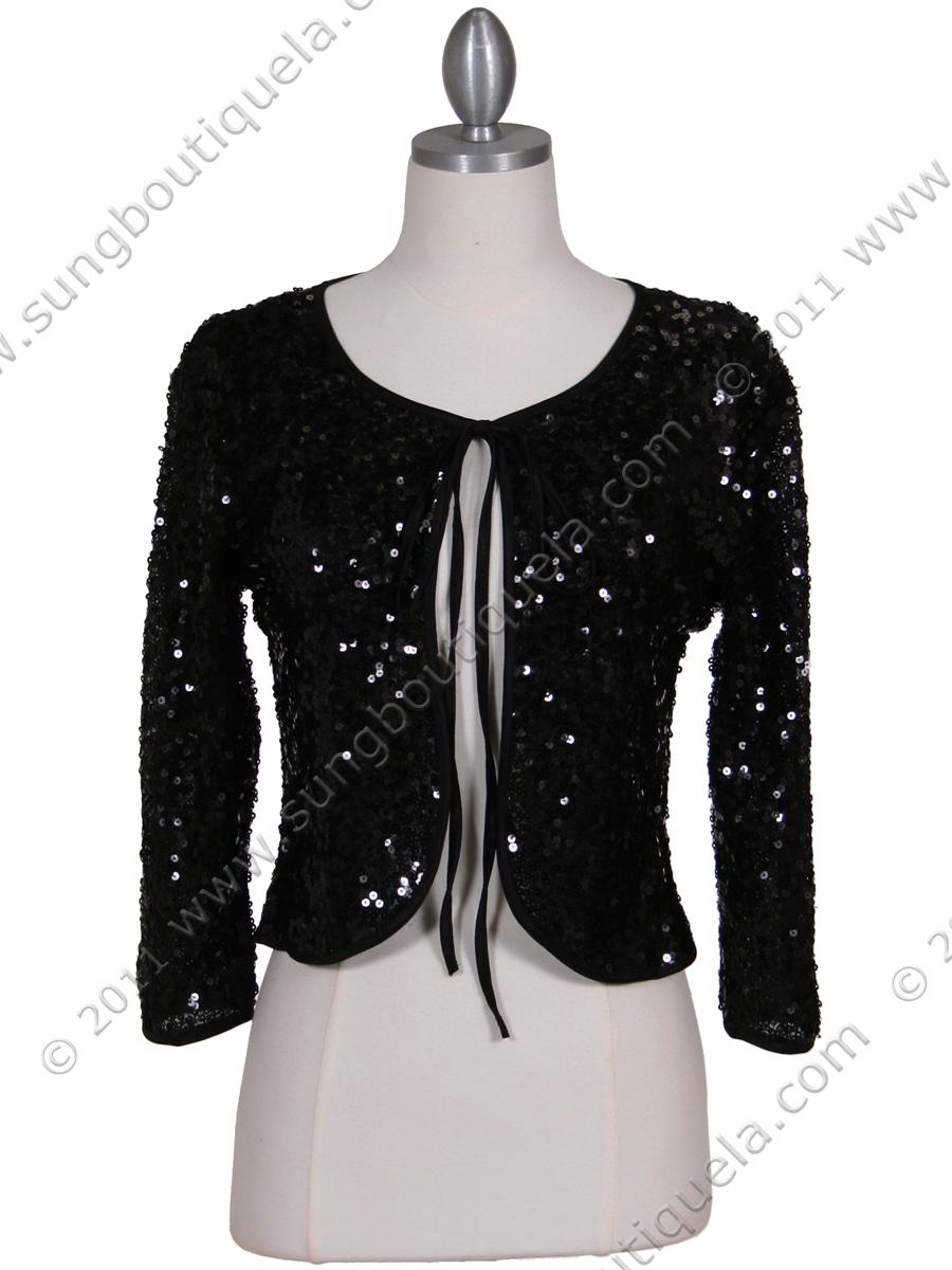 Black Sequin Bolero Jacket Sung Boutique L A