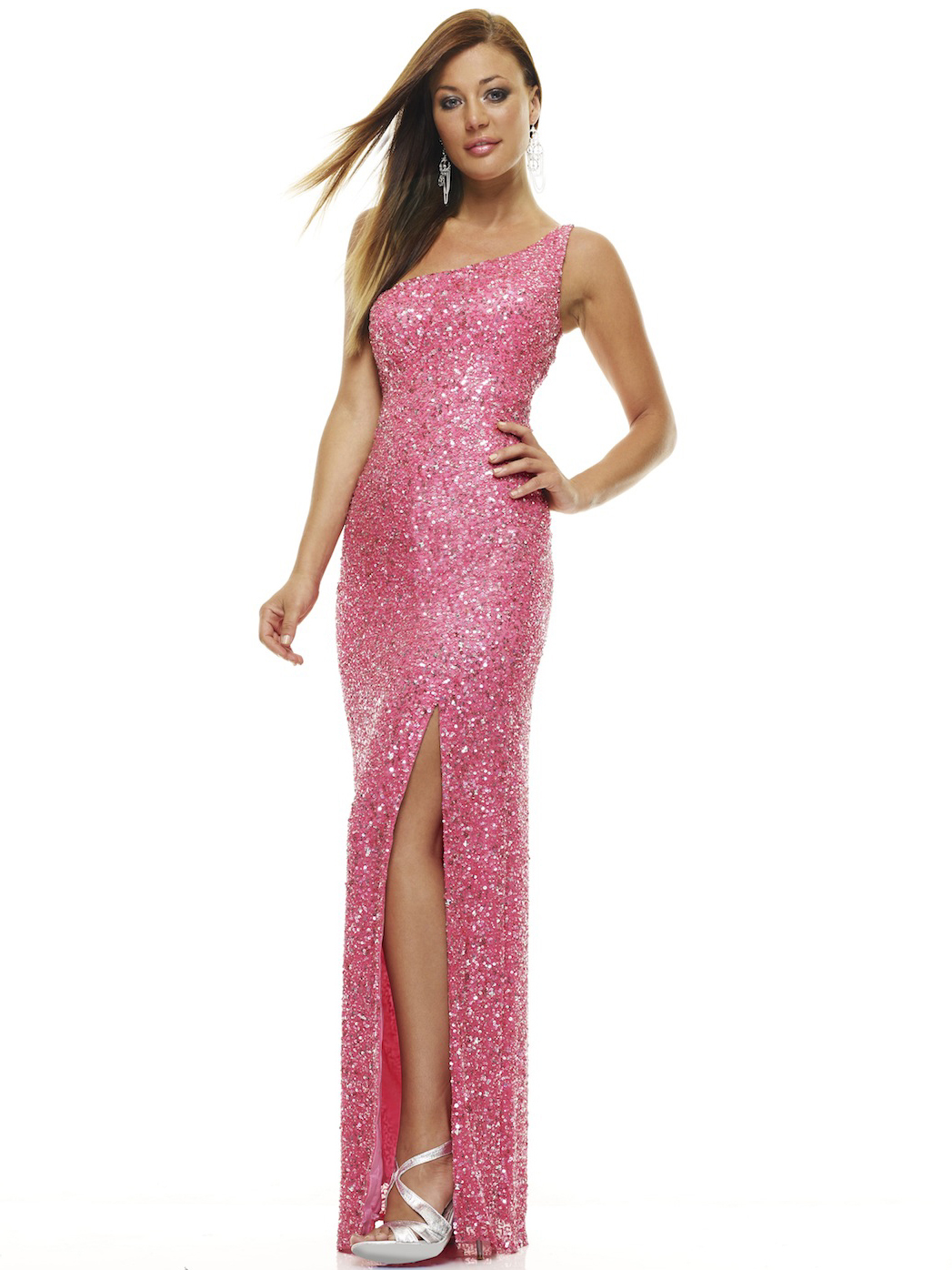 One Shoulder Prom Dress With Slit By Scala Sung Boutique