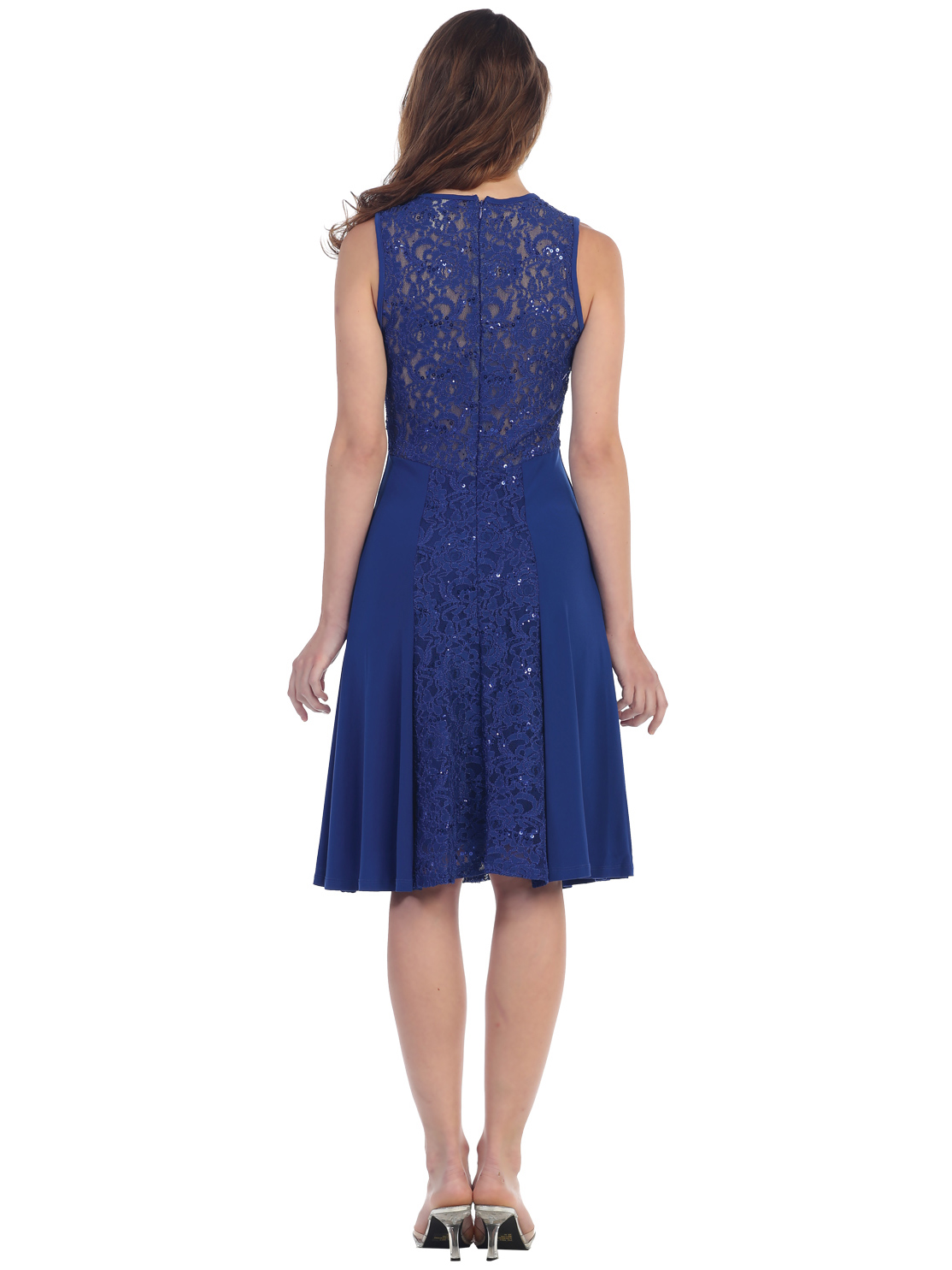 Knee Length Cocktail Dress with Lace | Sung Boutique L.A.