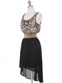 SH170 Black Leopard Chiffon High-low Cocktail Dress - Black Leopard, Alt View Thumbnail