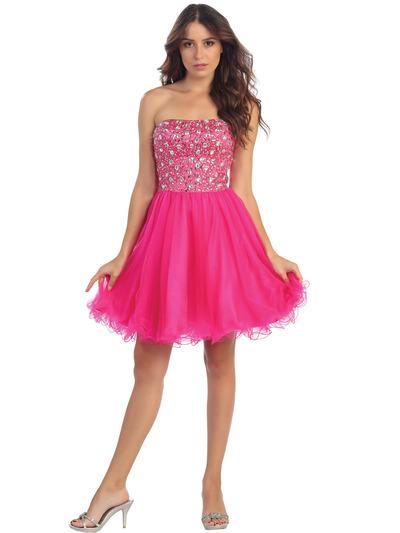Short Homecoming Dress Fuschia