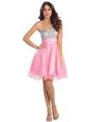 Sequin Bodice Homecoming Dress