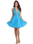 Halter Homecoming Dress