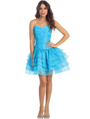 Sweetheart Corset Bodice Tiered Homecoming Dress