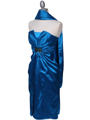 C5077 Turquoise Strapless Cocktail Dress - Turquoise, Alt View Thumbnail