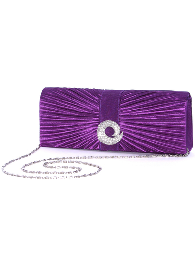 HBG92426 Purple Evening Bag with Rhinestone Decor - Purple, Alt View Medium