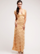 Lace and Layers Evening Dress
