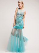 Sheer & Chiffon Sparkling Stones Special Occasion Dress