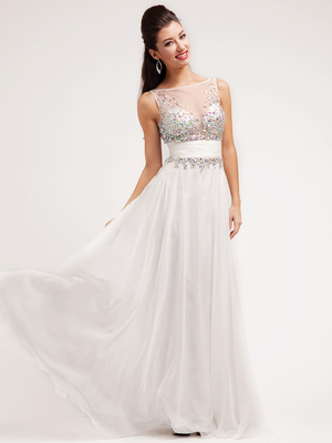 JC3125 Chic Sweetheart Evening Dress, Ivory