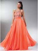 Extraordinary Lace & Embellished Bodice Evening Gown