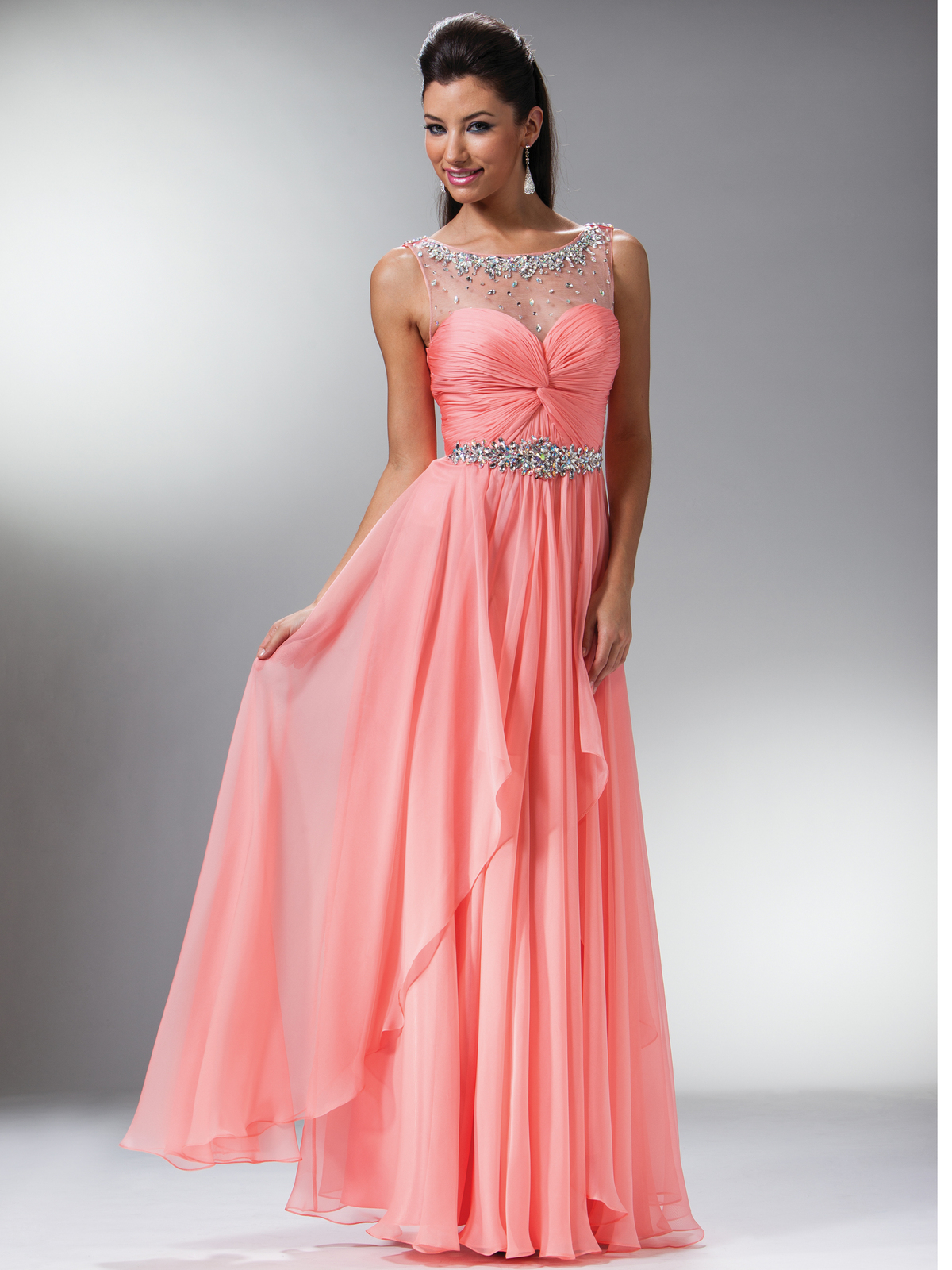 Light Coral Prom Dress