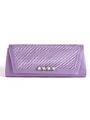 JX7008 Purple Satin Evening Bag