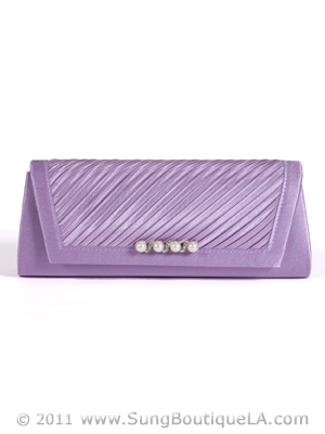 JX7008 Purple Satin Evening Bag, Purple