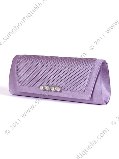 JX7008 Purple Satin Evening Bag - Purple, Alt View Medium