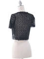 SB1801  Black Crochet Bolero Jacket - Back Image