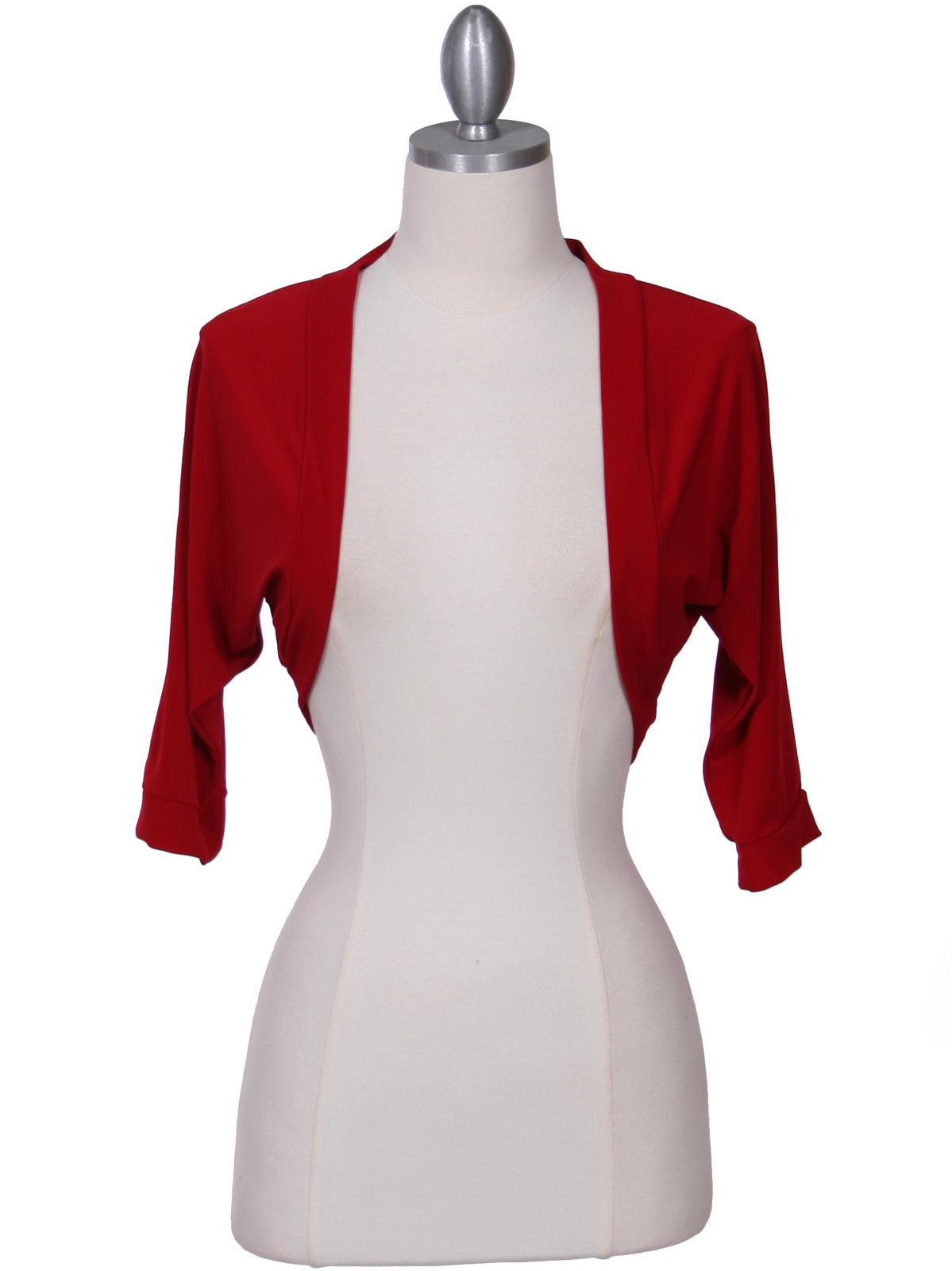 Red Bolero Jacket Sung Boutique L A